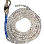 FallTech 8200T Vertical Lifeline with Snap Hook and Taped End, 100-Foot