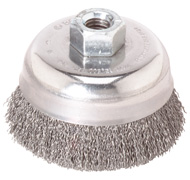 Bosch WB524 3'' Cup Brush, Crimped Carbon Steel Wire Wheel