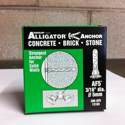 "Toggler 3/16"" Alligator Anchor W/ Flange AF5 (200/Box)"