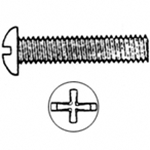 #10-24 x 3'' Phillips Round Machine Screw (100)