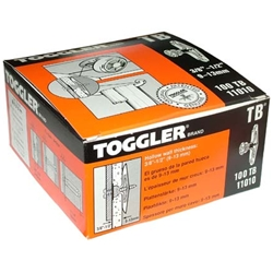 "Toggler 3/8'' - 1/2"" TB Drywall Anchor Medium Duty 11010 (100/Box)"