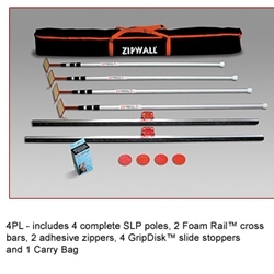 Zipwall 4 Pack Plus Barrier System 4PL Lowest Prices On The Web